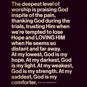 Trusting Him when we're tempted to lose. :-)