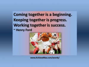 Quote on teamwork by Henry Ford.