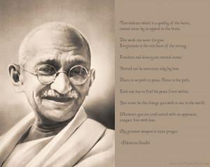 Mahatma Gandhi Motivational wallpaper with famous quotes