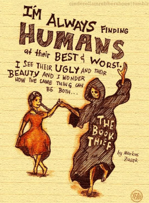 wanted to tell the book thief many things about beauty and brutality ...