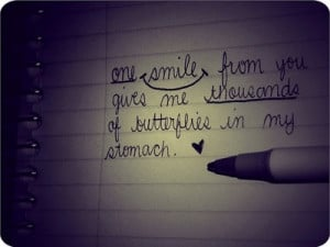 Back > Gallery For > You Give Me Butterflies In My Stomach Quotes