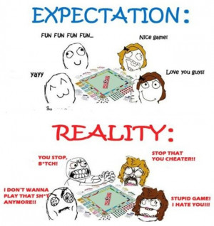 Expectation vs Reality Funny Image Quote