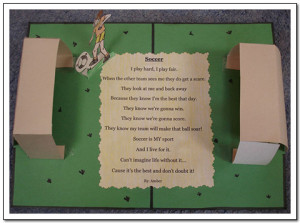 ... an example of a poem that is set inside the context of a soccer field