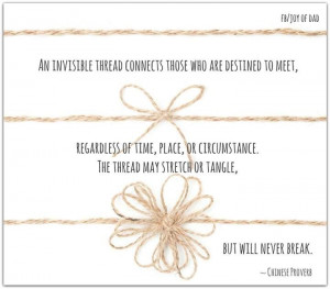 An invisible thread connects those who are destined to meet..