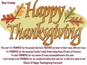 Happy Thanksgiving My Dear