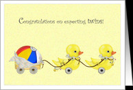 Double Ducks - Congratulations Expecting Twins card - Product #192018