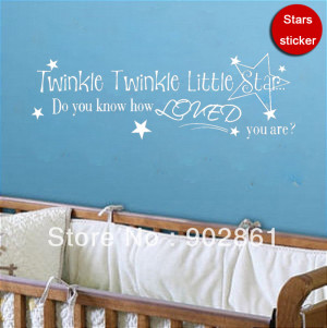 ... Nursery Wall Vinyl Quote Saying Sticker Baby Room Wall Art Free