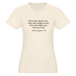 Mahatma Gandhi Quote 9 Organic Women's Fitted T-Shirt