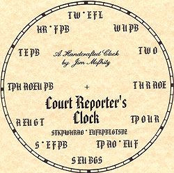 Court Reporter's Clock