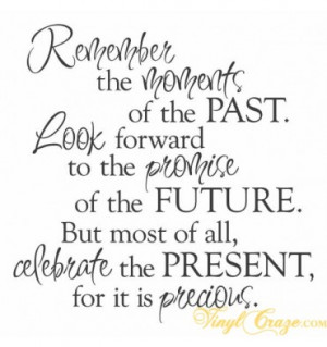 Home > Family & Home > Remember the moments - past, future, present