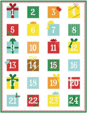 advent calendar free print make your own advent calendar print ...
