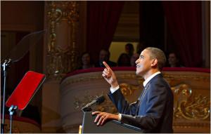 President Obama delivering remarks at the Theatro Municipal do Rio de ...