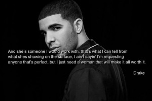 Rapper drake quotes and sayings woman cute wise