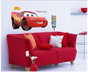 Disney-CARS-2-BiG-LIGHTNING-MCQUEEN-Quote-Wall-Sticker-Decal-Mural-kid ...