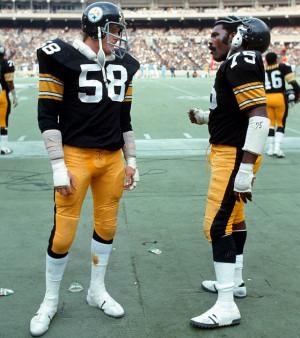 Jack Lambert (linebacker) and Mean Joe Green (defensive end)
