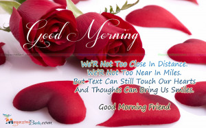 Good Morning Quotes For Friends Good morning friend