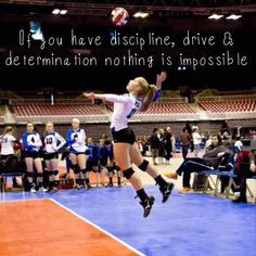 Discipline, drive & determination #volleyball #mybaby More