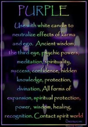 Candle Magick purple