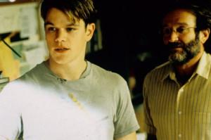 Still of Robin Williams and Matt Damon in Good Will Hunting (1997)