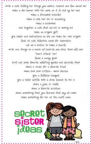 Secret Sister Ideas