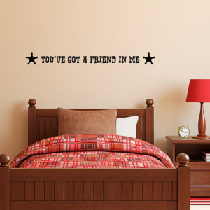 Toy Story Friendship Quotes Decal - toy story quote
