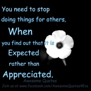 stop doing things for others