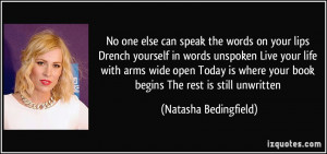 More Natasha Bedingfield Quotes