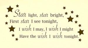 star nursery rhyme on baby nursery wall