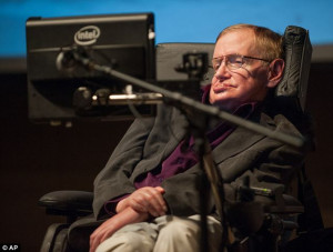 No need for God: Stephen Hawking, pictured at an earlier event in ...