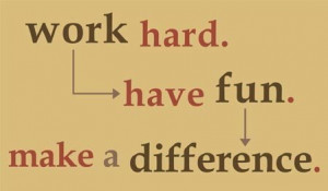 it is not enough that you have got to have hard work and a certain ...