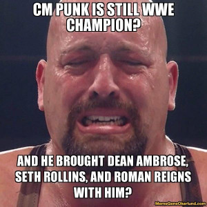 seth rollins | Punk is still wwe champion? and he brought Dean Ambrose ...