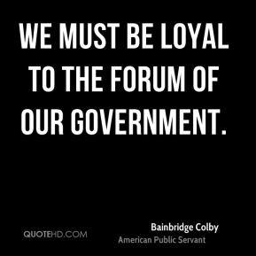 More Bainbridge Colby Quotes