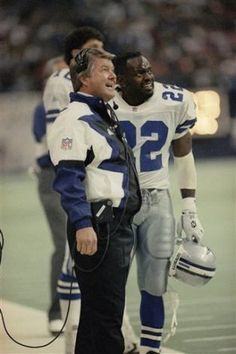 Image detail for -Dallas Cowboys coach Jimmy Johnson and running backs ...