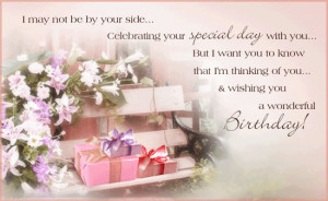 ... Be By Your Side Celebrating Your Special Day With You - Birthday Quote