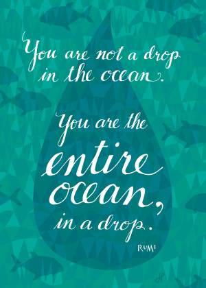 Rumi: You are the entire ocean