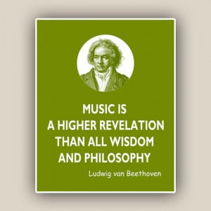 Beethoven Print, Music Quote, Ludwig van Beethoven quote print, piano ...