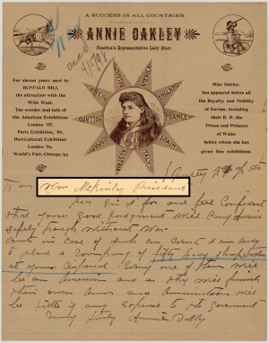 Annie Oakley!On this day in 1860, the famed female sharpshooter ...
