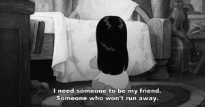 quote depressed depression sad lonely A friends alone you leave friend ...