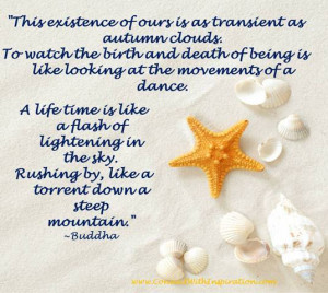 Death quote, Buddha Quote, Impermanence