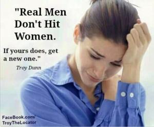 Real men don't hit women