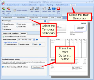 ... you can choose whether invoicesand quotes show a VAT/ Tax rate column