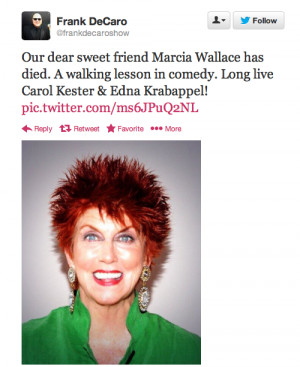 Marcia Wallace The Simpsons...