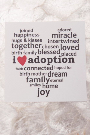 Love Adoption Art Print 5x5