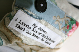 Image of `My Sister` Quote Purse