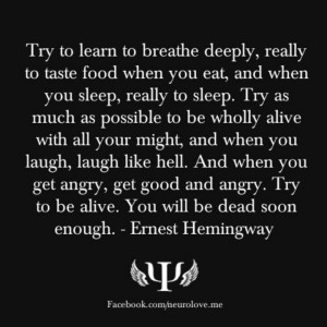 Hemingway.....putting this on my tombstone.