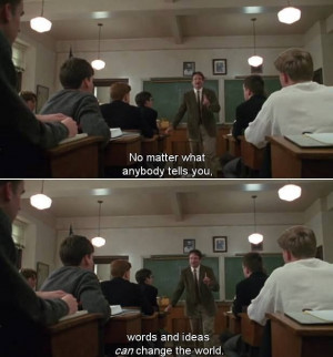 ... most stirring inspiring and enlightening dead poets society moments