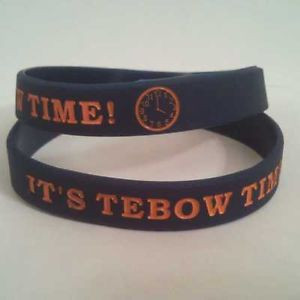 ... -TIME-RUBBER-WRISTBAND-DENVER-FOOTBALL-BRONCOS-FUNNY-SAYINGS-TEBOWING