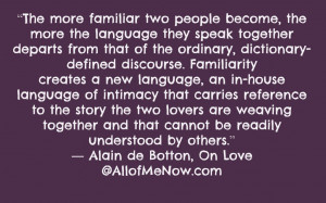 Thank You My Love Quotes Alan de botton on love quote