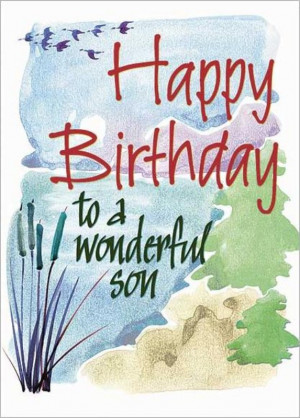 Happy Birthday to a Wonderful Son Card (CB1388)
