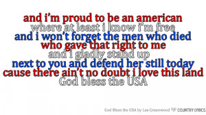 lee greenwood # god bless the usa # lyrics # country music # 4th of ...